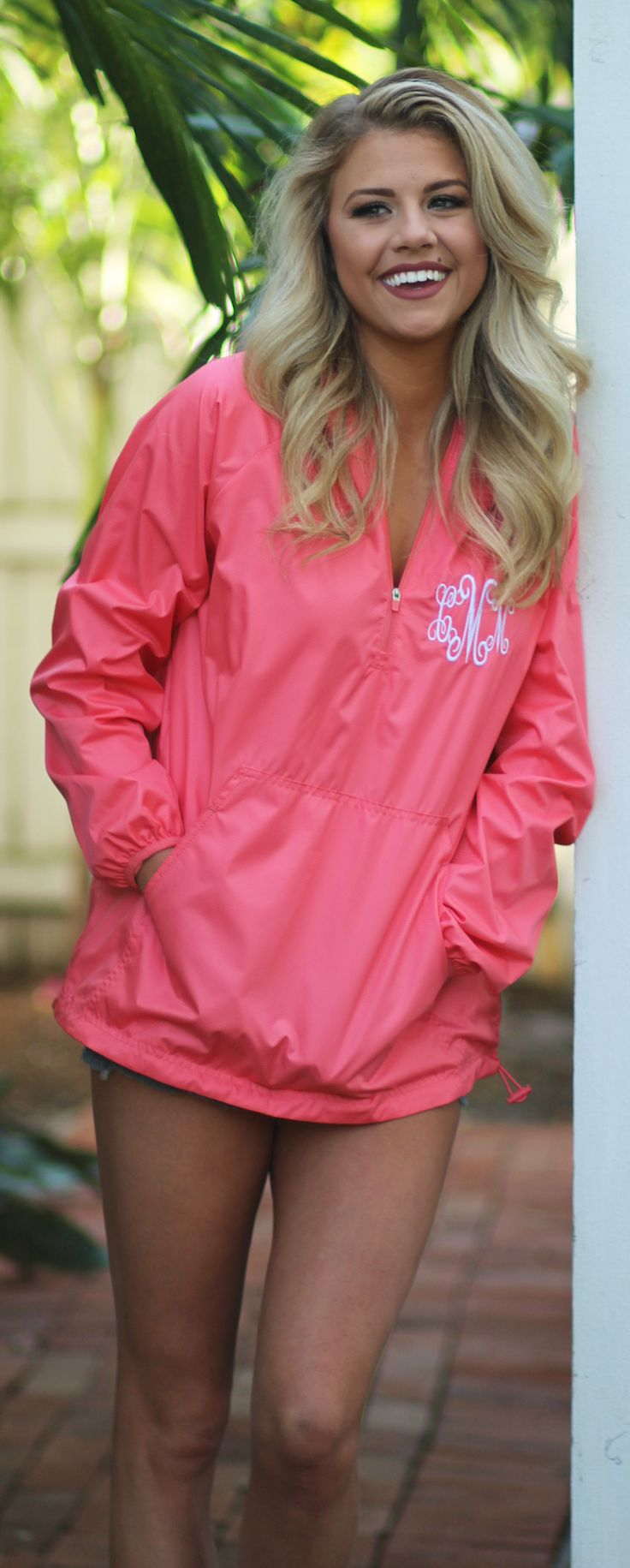 This color is to die for  && so is this NEWW Pullover Rain Jacket!!