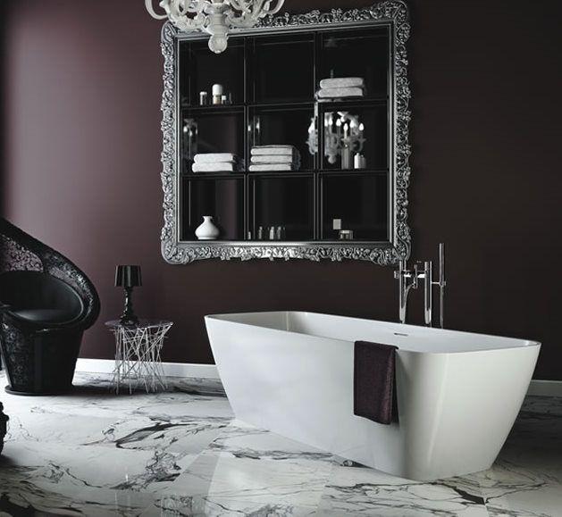 Pin by allie killenbeck on bathroom pinterest for Dark purple bathrooms