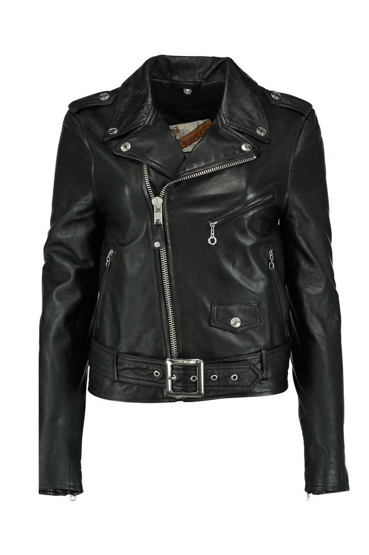 blouson schott noir veste-et-manteau pret-a-porter femme