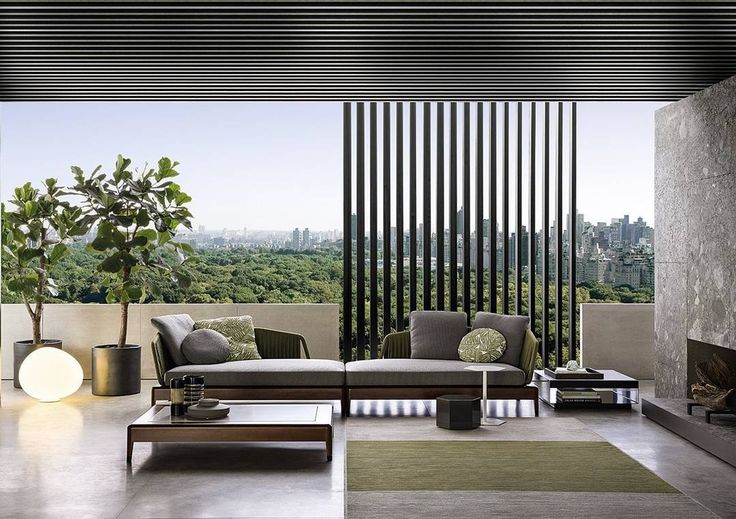 When you can have the pleasures of the #outdoors while being #indoors in your #livingroom. This Al Fresco style is by @minottilondon. #luxuryliving #lifestyle #interiordecor #roominspiration #styling #interiordesigning #room #homefurniture #italianinteriors #instadaily #sofa #designerchair #centertable #sofas #sofaUK #design