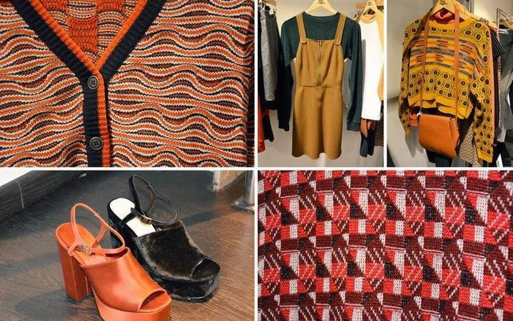 mode-annees-70-chaussures-talons-plateforme-pullover-motif-geometrique