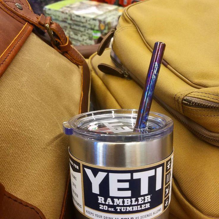 Titanium straw in a yeti rambler www.tisurvival.com #tisurvival #titanium #straw #yetitumbler #yeticoolers #yeti
