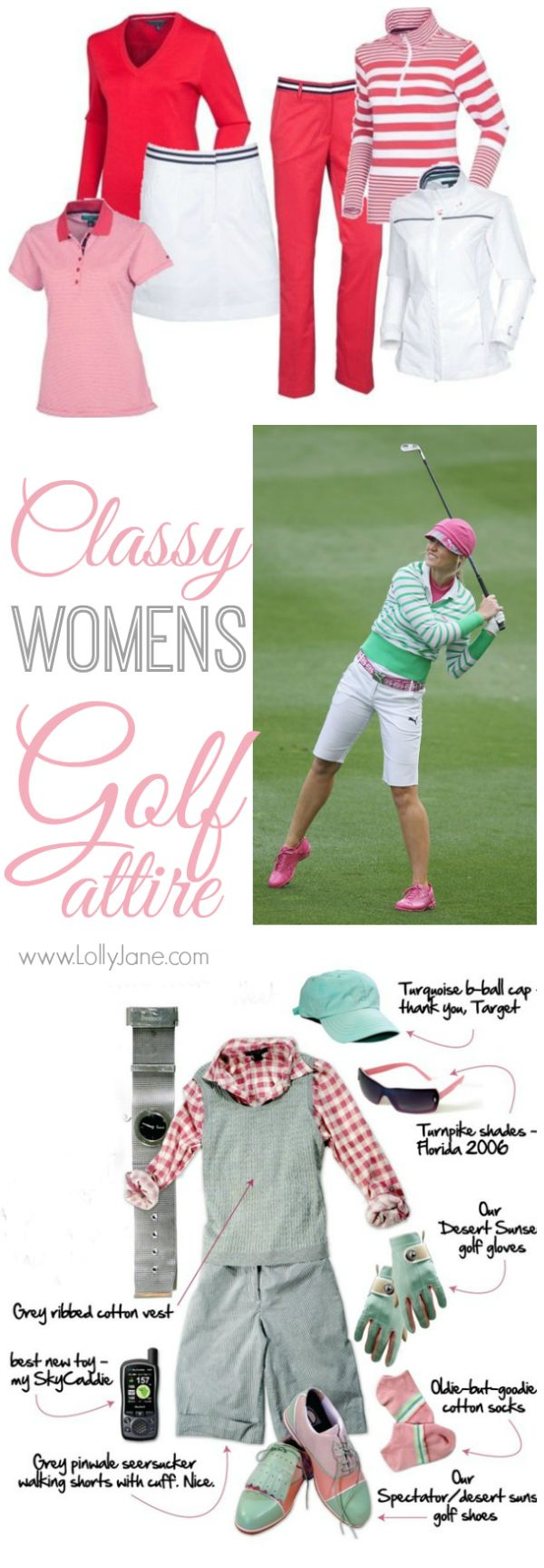 Classy Womens Golf Attire |lollyjane.com I'm not a golfer right now but the clothes are cute!