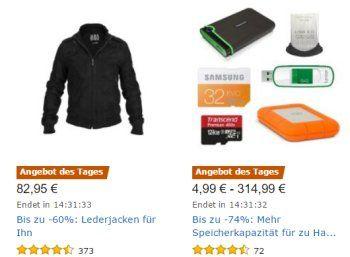 """Amazon: Speicher-Spezial mit USB-Sticks, externen Festplatten und mehr https://www.discountfan.de/artikel/technik_und_haushalt/amazon-speicher-spezial-mit-usb-sticks-externen-festplatten-und-mehr.php Nur am heutigen Donnerstag sind bei Amazon im Rahmen eines """"Speicher-Spezial"""" USB-Sticks, externe Festplatten, Speicherkarten und weitere Produkte zu reduzierten Preisen zu haben. Amazon: Speicher-Spezial mit USB-Sticks, externen Festplatten und mehr (Bild: Amazon.d"""