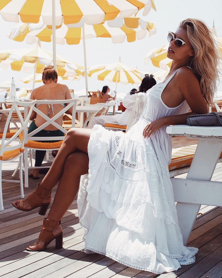 Natasha Oakley in a lovely dress, details on her Instagram