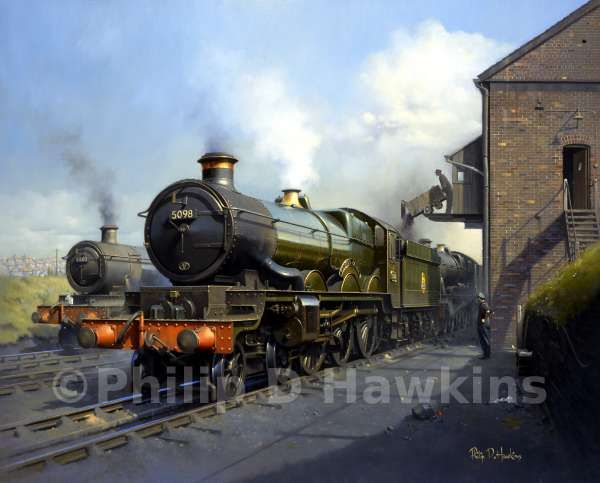 steam trains british in paintings 'Evening Standard'