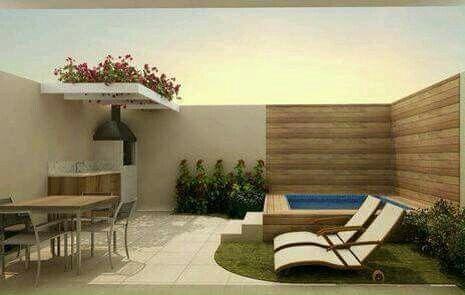 Jardin peque o jardines pinterest patios exteriores for Pileta jardin pequeno