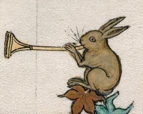 Conill tocant la trompeta