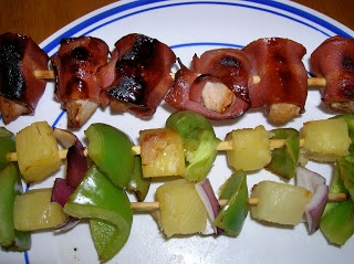 Chicken and Bacon Shish Kabobs | Recipes To Try | Pinterest