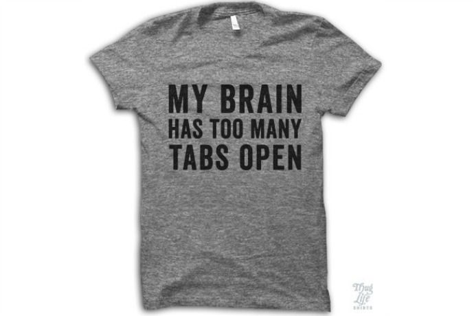 Computer geeks, busy parents, we're pretty sure everyone can related to this funny geeky shirt we found at Thug Life t-shirts. Enjoy the laugh. We did.