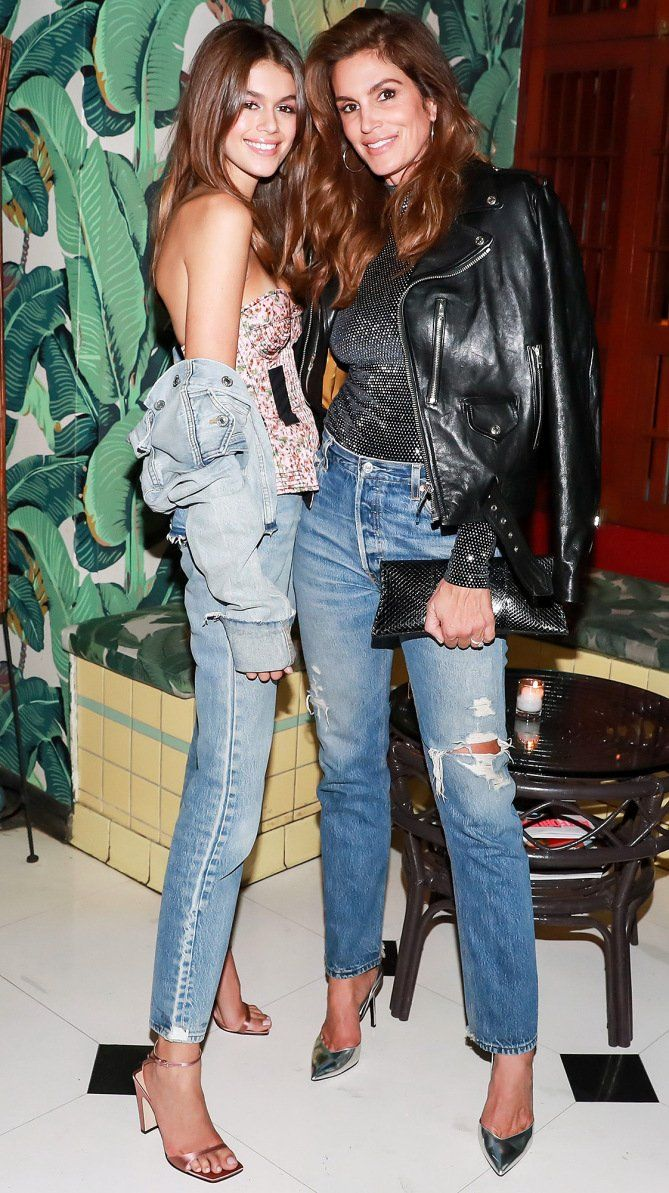 You Asked, We Found: Kaia Gerber and Cindy Crawford in Redone jeans and heels