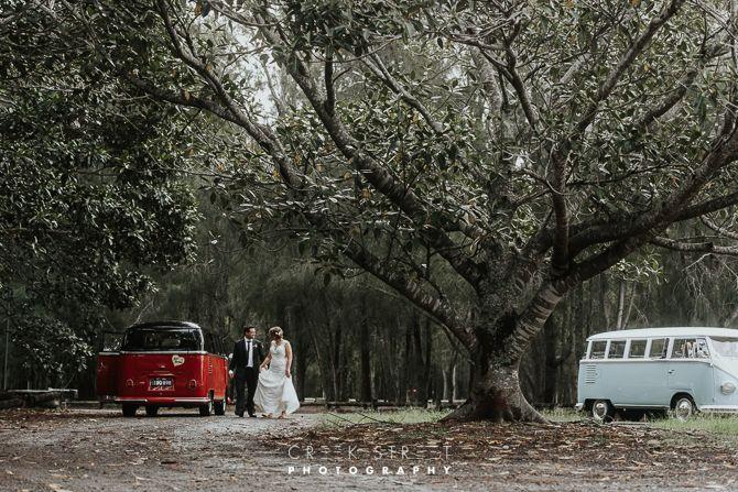 Bride and groom  McCarrs Creek Reserve Wedding