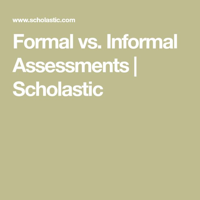 Más de 25 ideas increíbles sobre Formal assessment en Pinterest - formal assessment