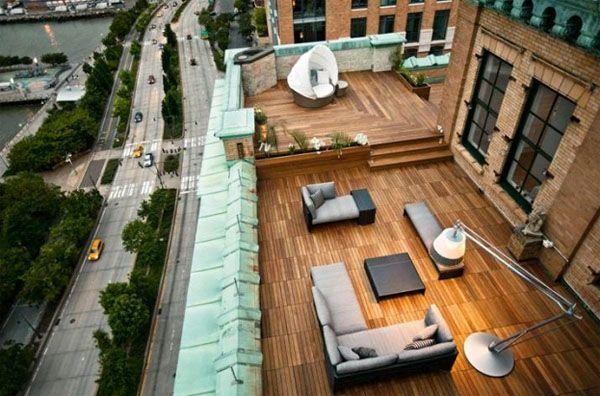 Терраса на крыше многоэтажного дома