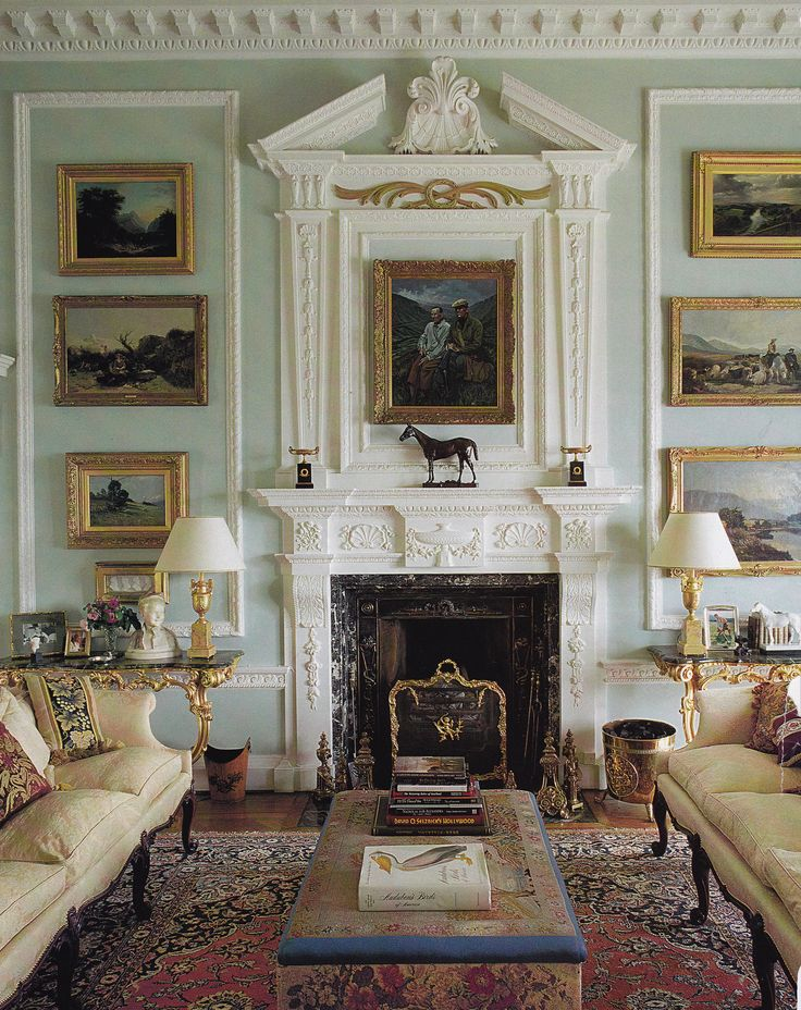 The Great Room At Lawers House Scotland Photo By James Mortimer Classic InteriorEnglish