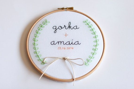 Wedding embroidery hoop