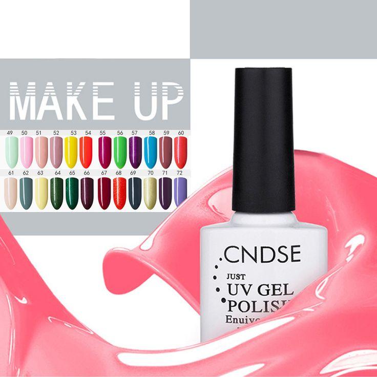 10ML Solid Color Gel Nail Polish LED Lamp UV Gel Enuivomental Long-lasting Soak-off Fingernail Gel Nail Varnish -- BuyinCoins.com