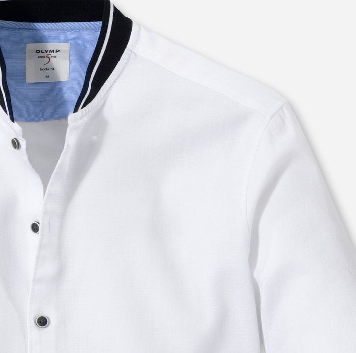 Olymp Level Five Casual Body Fit College Collar White 30133400 Olymp