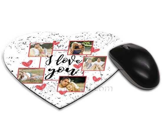 Tappetino cuore con grafica collage