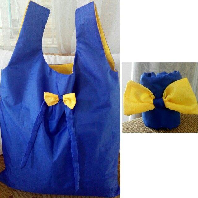 Folding shopping bag, tas belanja lipat  bahan parasut