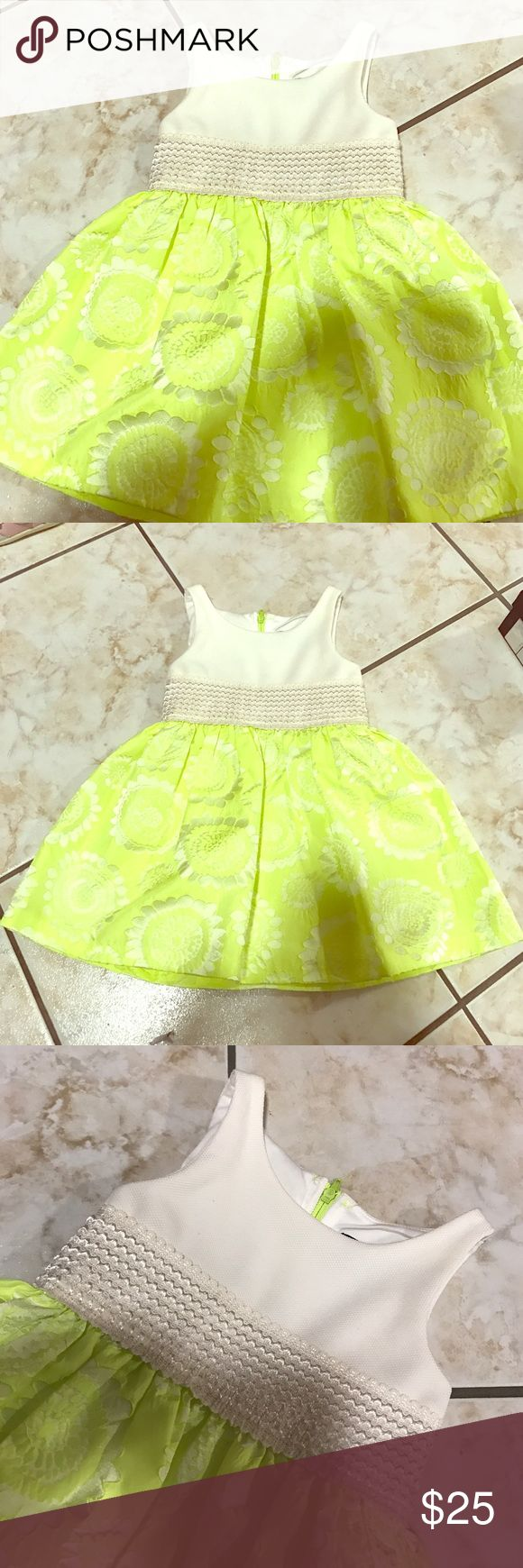Neon Yellow Dress Super cute neon yellow dress for any occasion. Size 12 Months. In Great Condition, Worn Once. Abs Kids Dresses Casual