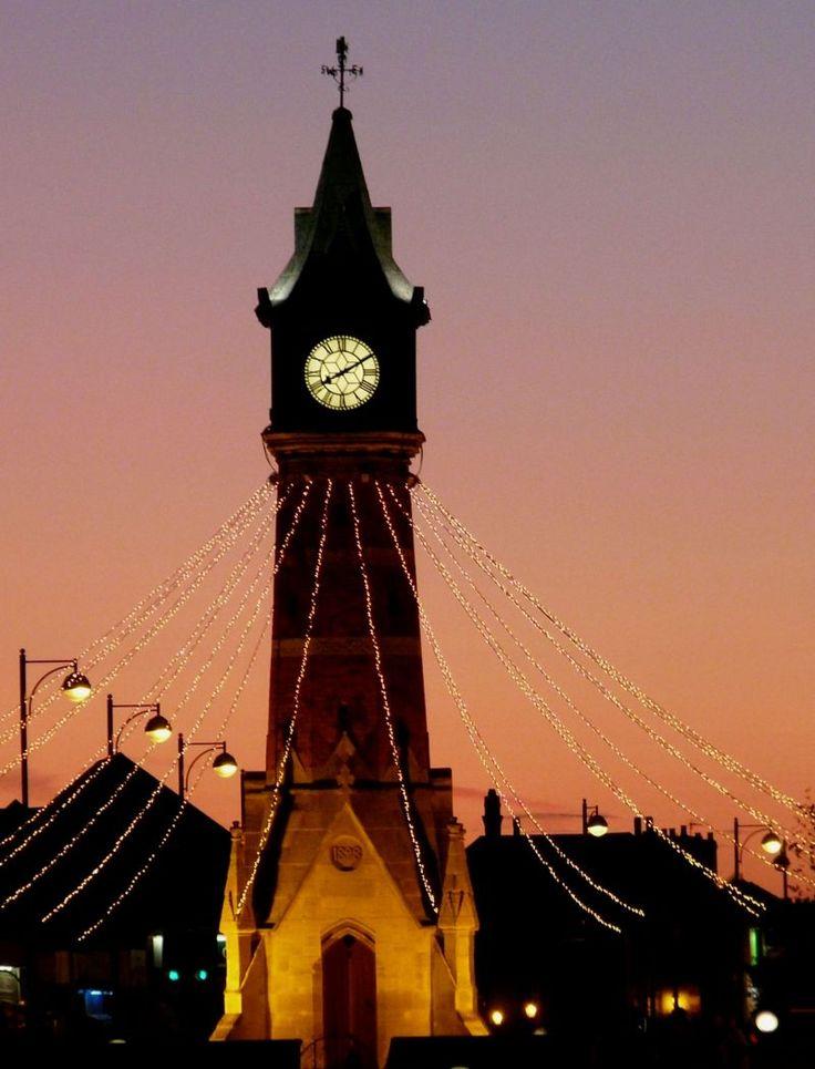 Skegness clock tower ...