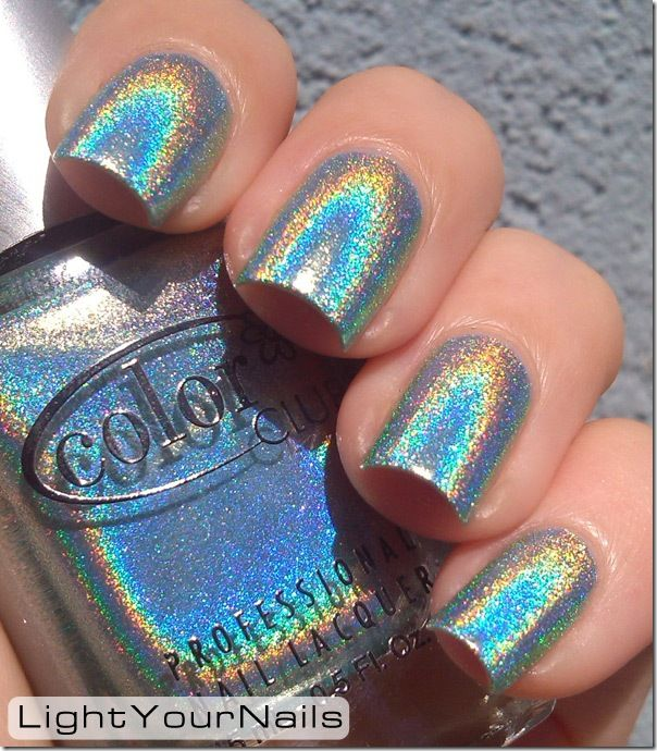 Light Your Nails! Color Club Angel Kiss #holographic #ColorClub