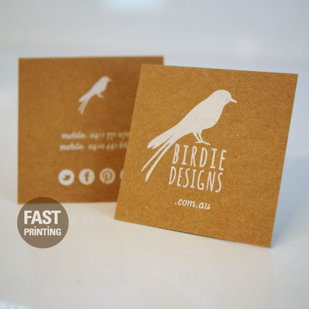 White Foil On Craft Paper #FPbusinesscards #fastprinting