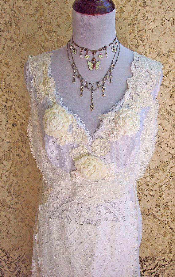 Edwardian Reverie Wedding Dress  Alençon Lace  by roselanijasmin, $350.00