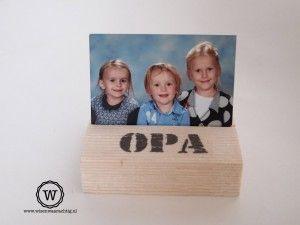 kado voor opa voor #vaderdag, een fotoblokje met een mooie foto van zijn kleinkinderen.