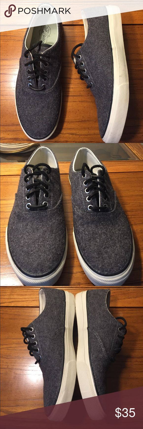 Men's Sperry Top-Sider Grey Wool Sneaker Excellent condition.Men's 8 1/2 Sperry Top-sider shoe.  - High Quality Cotton Canvas Upper for Breathability and Comfort - Padded Tongue and Collar for Added Comfort Around the Foot Sperry Top-Sider Shoes Sneakers