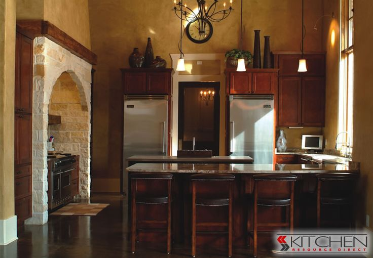 Amazing Stone Cut Out For Oven Two Refrigerators And Beautiful Cherry Shake