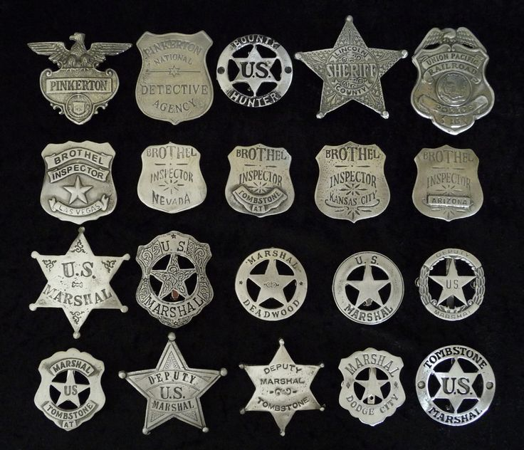 20 Badges Police Marshals Deputy Sheriff Deputy