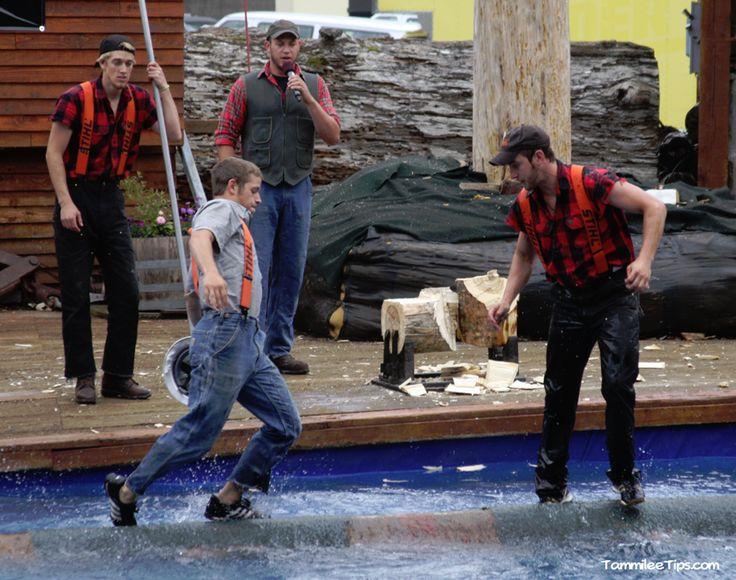 Ruby-Princess Ketchikan-Great-Alaskan-Lumber-Jack-Show-Log-Rolling September 2015