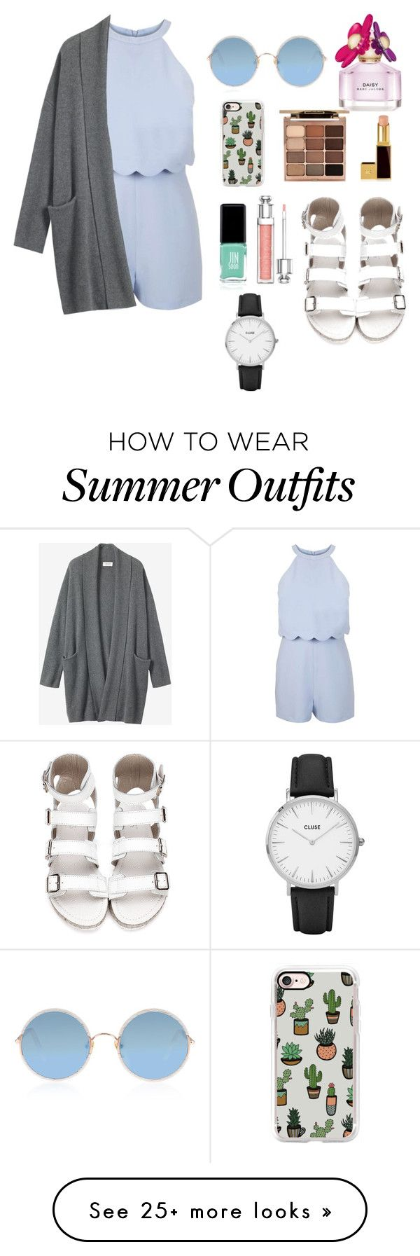 """""""Spring inspried outfit for warm November in NZ"""" by lynksmichelle on Polyvore featuring Miss Selfridge, Toast, Sunday Somewhere, Casetify, Stila, Tom Ford, Jin Soon, Christian Dior, Marc Jacobs and CLUSE"""