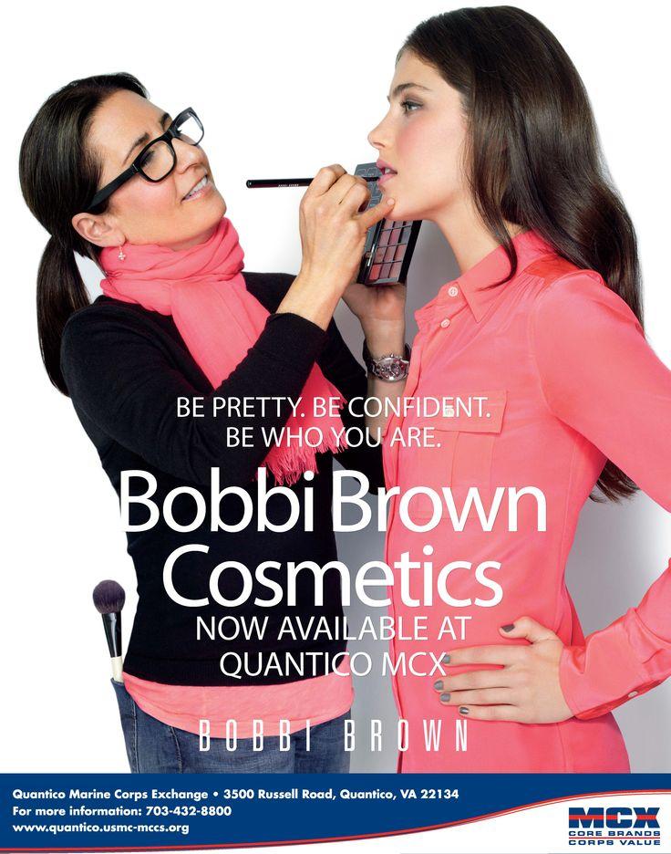 Bobbi Brown Cosmetics NOW AVAILABLE at the Quantico MCX. http://www.quantico.usmc-mccs.org/