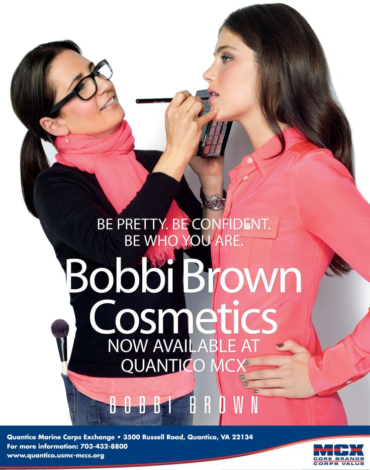 Bobbi Brown Cosmetics NOW AVAILABLE at the Quantico MCX. http://www.quantico.usmc-mccs.org/
