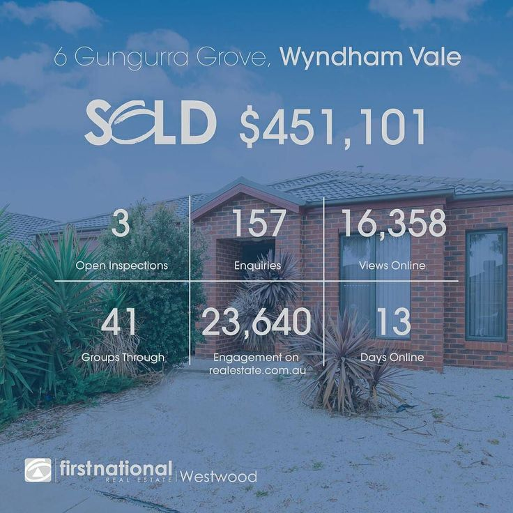 Another one #SOLD by #fnrewestwood!  Ask us how we can get you sold for more!    #realestateau #realestate #realestateagent #realestatewerribee #realestateaustralia #wyndham #werribee #wyndhamvale #buy #sell #property #investor #appraisal #marketopinion #weputyoufirst