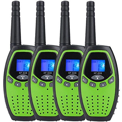 Walkie Talkies for Kids x 4 Mksutary Two Way Radio 3KM/1.9MI Range (MAX 5KM/3.1MI) Outdoor Toys for Boys Activity with Long Distance Range(Green). For product & price info go to:  https://all4hiking.com/products/walkie-talkies-for-kids-x-4-mksutary-two-way-radio-3km-1-9mi-range-max-5km-3-1mi-outdoor-toys-for-boys-activity-with-long-distance-rangegreen/