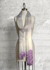 Cashmere Silk Scarf - pink violet diagonal line by VIDA VIDA DHmnA6