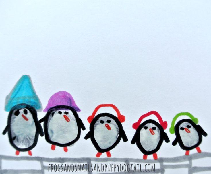Penguin Family Fingerprint Art - FSPDT