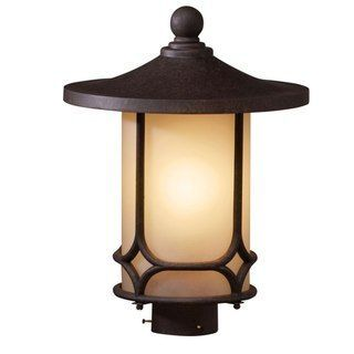Aged Bronze Transitional 1-light Outdoor Post Light