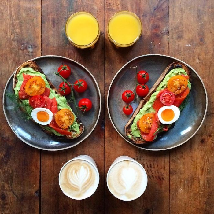 Good Morning :) Symmetrical Breakfasts