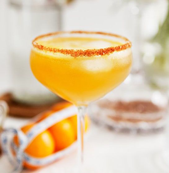 Holiday Cocktail with Rum Ginger