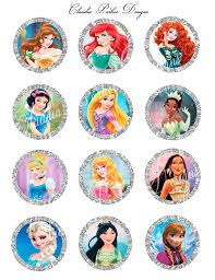 Risultati immagini per princess cupcake toppers
