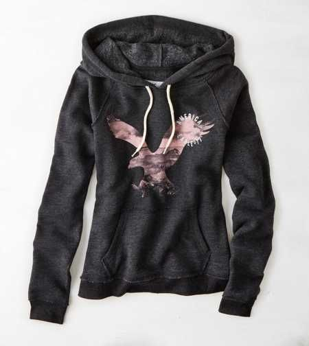 AEO Signature Graphic Hoodie - Buy One Get One 50% Off