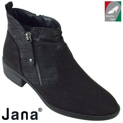 Jana női bokacsizma 8-25364-29 001 fekete