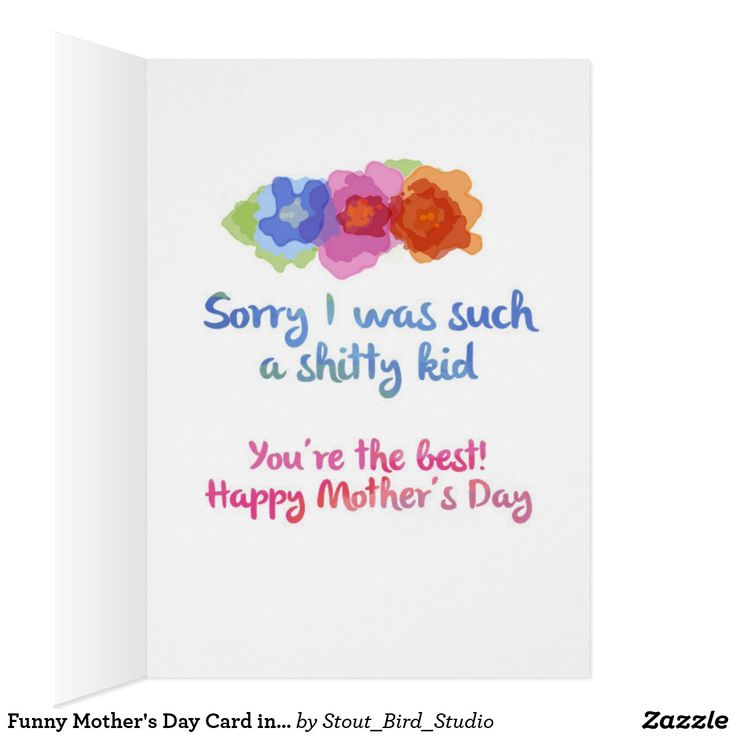 Funny Mother's Day Card in watercolors