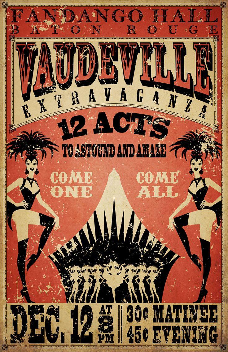 Vaudeville poster template costumepartyrun blog maxwellsz
