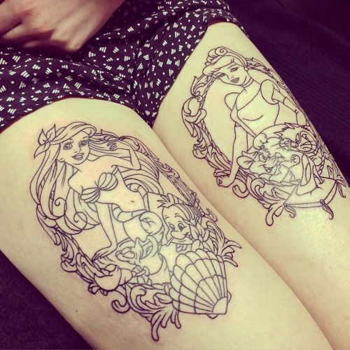 disney tattoos cinderella